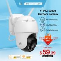 YI 1080P PTZ cámara exterior wi-fi Zoom Digital AI humanos seguimiento automático de la cámara IP inalámbrica de Audio de la visión nocturna IR seguridad CCTV Cam