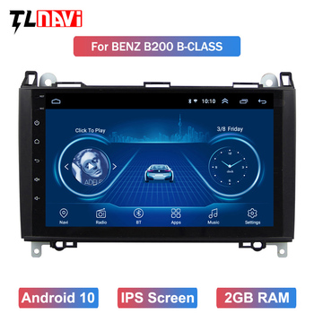 Car Multimedia Player Android 10 GPS Autoradio For Benz B W245 B150 B160 B170 B180 B200 B55 2004-2012 image