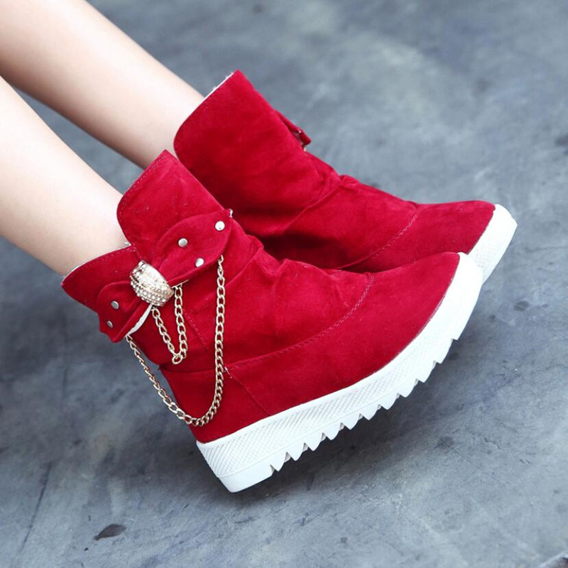 2019 Winter New Snow Boots Women's Boots Women's Tube Casual Bow Snow Boots Warm Cold Burning Feet Women's Boots Cotton Shoes 48