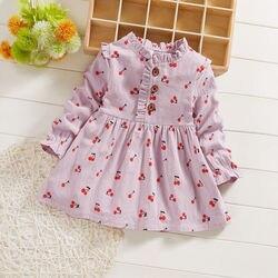 Baby mädchen kleider frühling herbst kleinkind mode cottong party kleid kleidung für bebe mädchen infant geburtstag kleidung outfit 2020