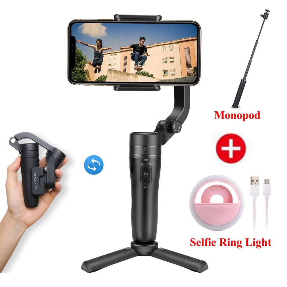 Feiyutech Vlog Pocket Foldable Phone Gimbal 3 Axis Handle Gimbal Stabilizer For iPhone, Huawei, Samsung One Plus Smartphone