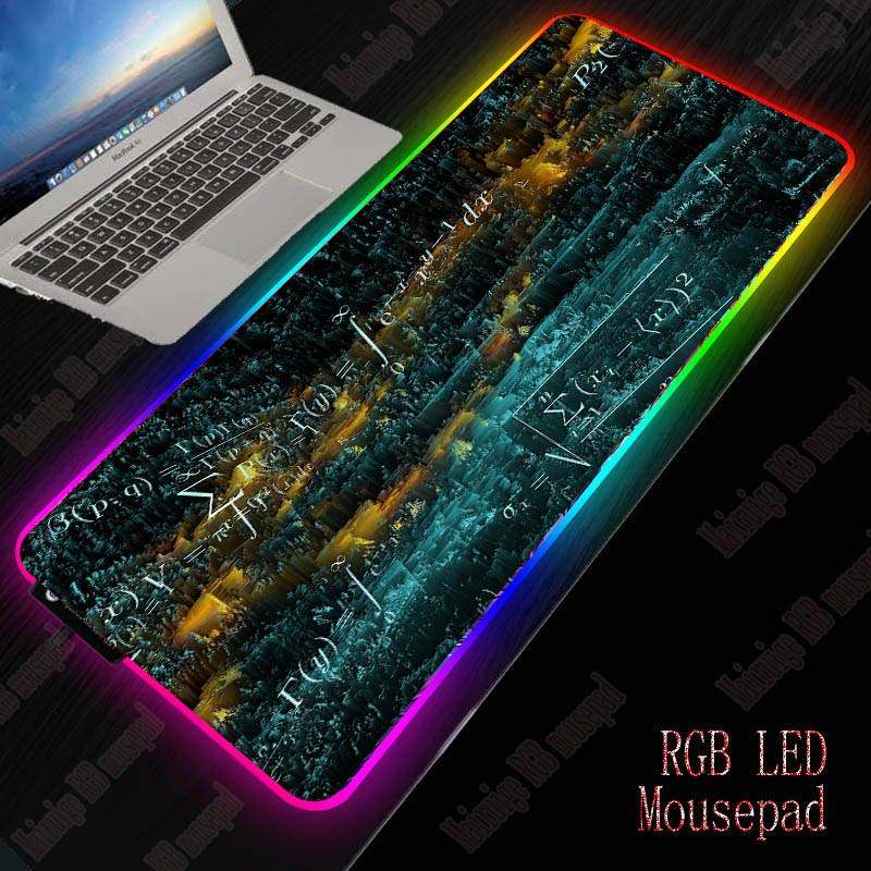 Mairuige Mathematics RGB Gaming Large Mouse Pad Gamer Computer Mousepad with Led Backlight Carpet for Keyboard Desk Mat Mause 1