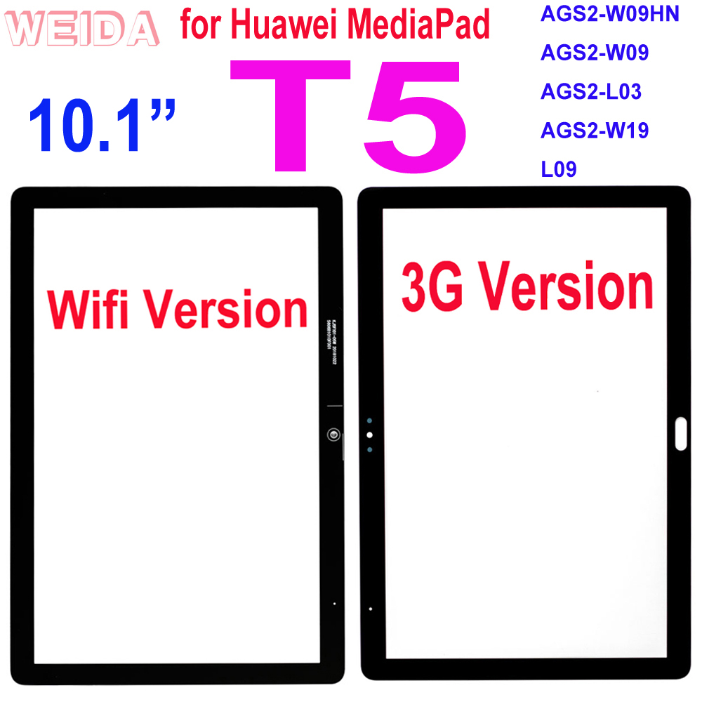 """10.1"""" Touch For Huawei MediaPad T5 L09 AGS2-W09 Touch Screen Front Glass Outer Glass Lens Panel Replacement AGS2-L03 AGS2-W19"""
