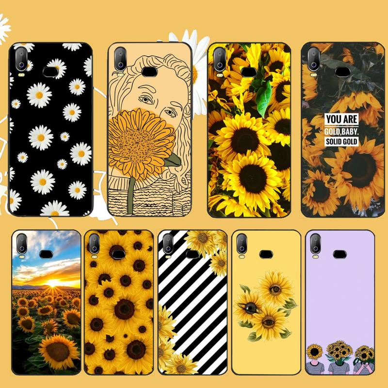NBDRUICAI Summer Daisy Sunflower <font><b>Floral</b></font> Flo black Phone <font><b>Case</b></font> Cover Hull For <font><b>Samsung</b></font> A10 A20 A30 <font><b>A40</b></font> A50 A70 A71 A51 A6 A8 2018 image