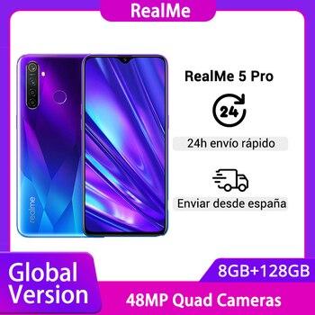 Перейти на Алиэкспресс и купить Глобальная версия realme 5 Pro R5 Pro 8 ГБ 128 Гб Смартфон Snapdragon 712AIE 48MP Quad Camera 6,3 ''мобильный телефон VOOC 20 Вт 4035 мАч