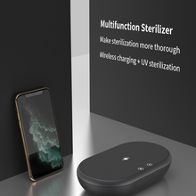 2021 New Arrival Sterilizer Box with Phone Wireless Charger Sanitizing UV Phone Sanitizer UV Sanitizing Box