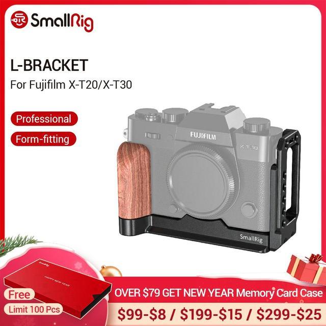 SmallRig X T20 L סוגר צלחת עבור Fujifilm X T20 ו X T30 Arca שוויצרי תקן צד צלחת + Baseplate L צורת הרכבה צלחת 2357
