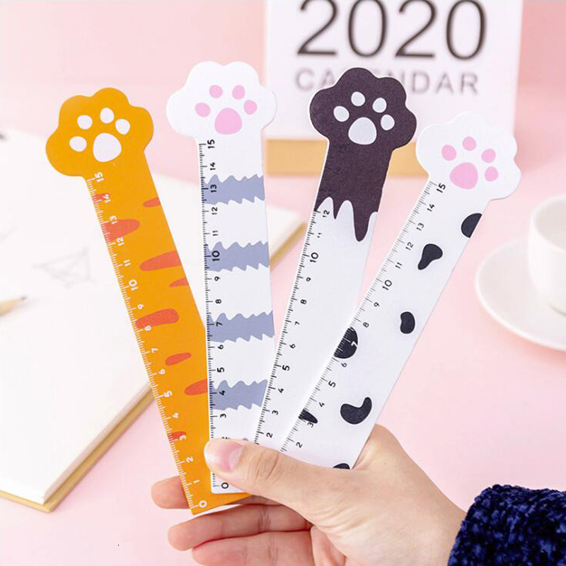 Wooden Material Ruler Cat Claw Office Stationery Lovely Style School Supplies 15cm Length 1PCS