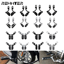 Motorcycle Engine Guard Highway Foot Pegs Footpeg 32mm Footrest Pedal Black/Chrome For Harley Touring Sportster XL Dyna Softail