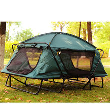 High-end outdoor mountain double rainstorm travel camping tent No need to build a strong shade off the ground tent(China)