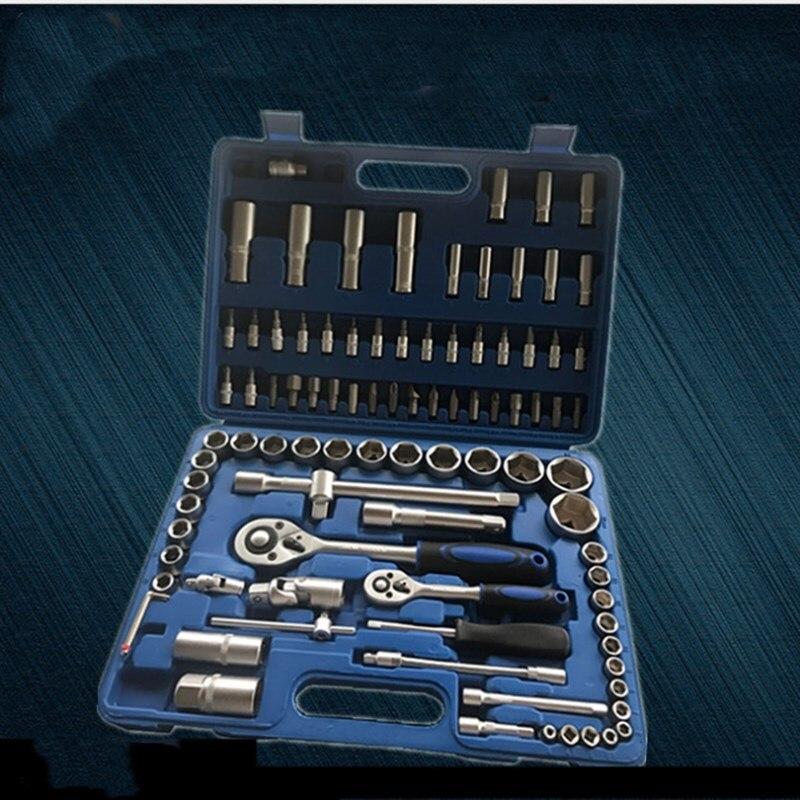 Купить с кэшбэком Car 94 - piece Auto Repair Sleeve Tool Auto Repair Sleeve Combination Tool Auto Repair Tool