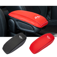 Genuine Leather Car Handrest Armrest Box Mats Cover Hand Pillow Pad For Mini Cooper One S JCW F54 F55 F57 F60 car Accessories