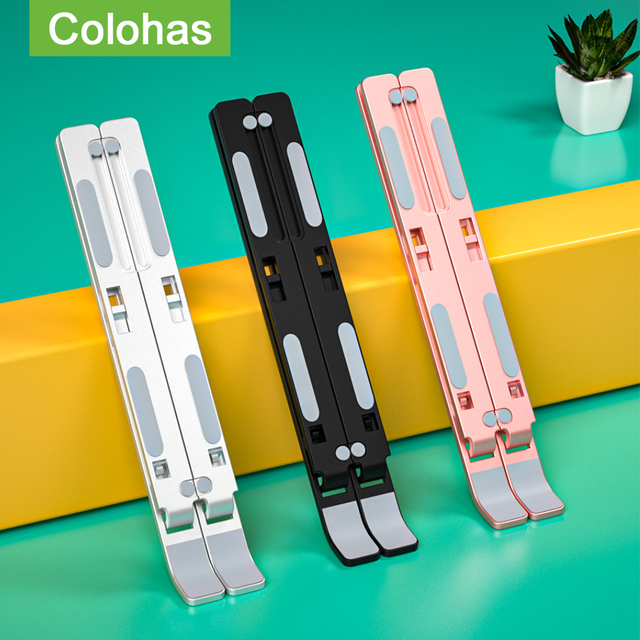 Portable Laptop Stand Base Support Notebook Stand For Macbook Computer Tablet Stand Adjustable Table Stand Laptop Holder Bracket