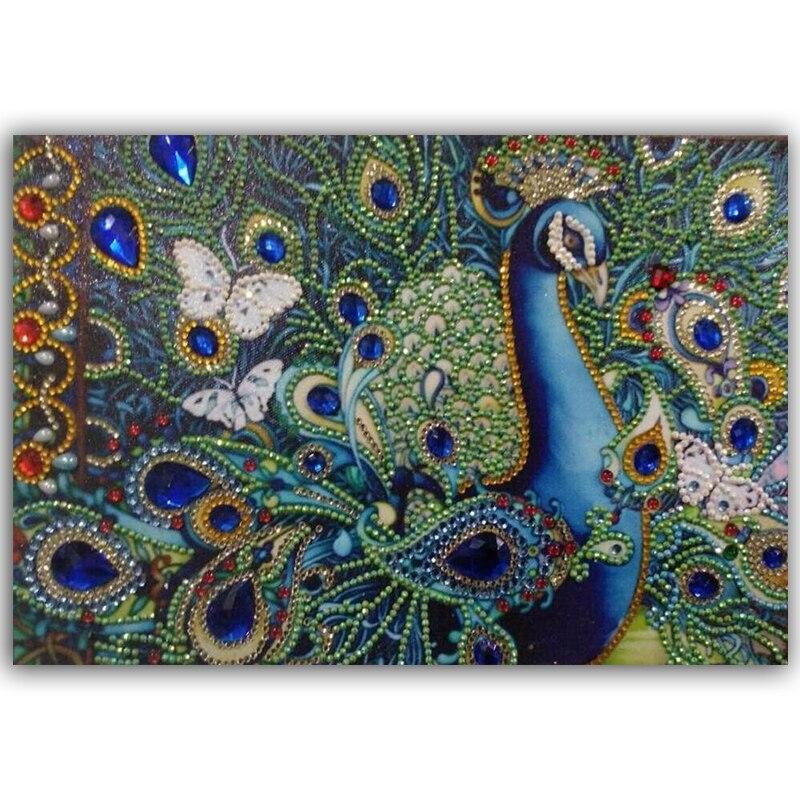 Купить peacoc животный узор специальная форма алмазная картина diy