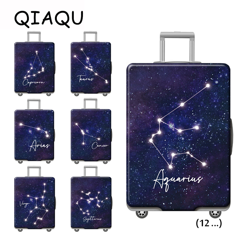 Twelve Constellation Unique Suitcase Dust Covers New 12Luggage Protective Cover Elastic Dust Cases 18-32 Inch Travel Accessories