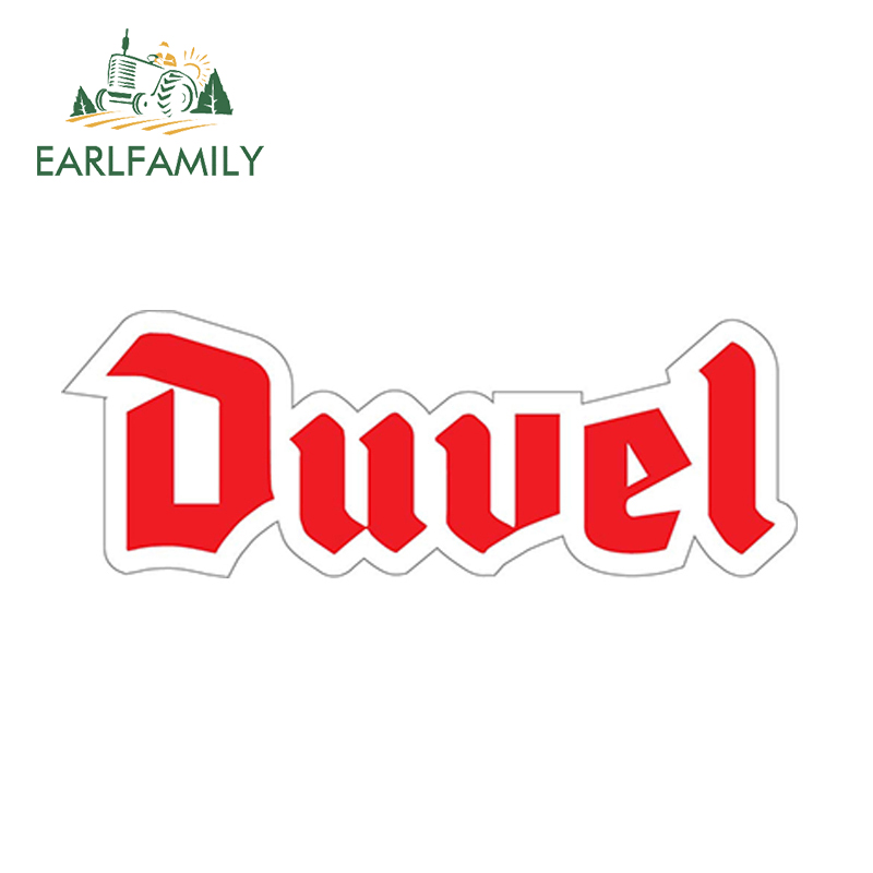 EARLFAMILY 13cm X 4.7cm DUVEL Sticker Car Styling Accessories Reflective Waterproof Funny Vinyl Car Decal Decorate Car Sticker