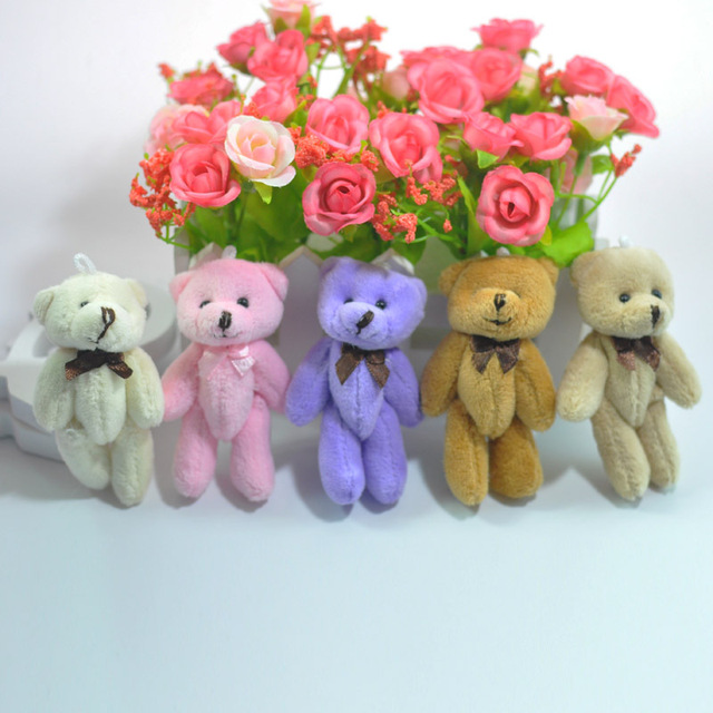 Cartoon Teddy Bear Plush Toys with Tie Soft Stuffed Animal Toys for Children Kids Girls Birthday Gift Baby Brinquedos Uncategorized Decoration Stuffed & Plush Toys Toys
