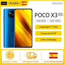 Versión Global POCO X3 NFC 6GB 128GB ROM teléfono móvil Snapdragon 732G 64MP Quad Cámara 6,67