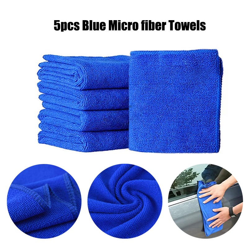 5Pcs Microfibre Cleaning Auto Car Detailing Soft Cloths Wash Towel Ultra-absorbent Duster Home Clean Anti-Static Fiber Towels