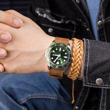 Causal Business Watches Men Light Luxury Sport Relogio Masculino Retro Design Leather Band Alloy Quartz Wrist Watch full grain