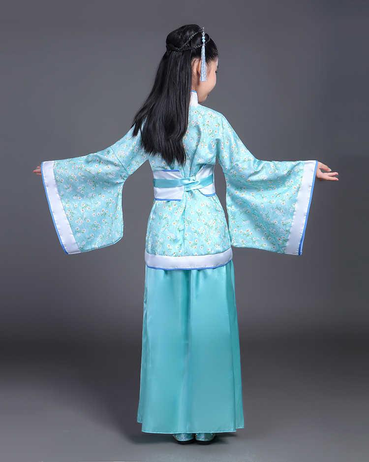 Fantezi çocuk geleneksel çin kostüm kız Frocks yeni yıl tatil elbisesi çocuklar için lüks elbise