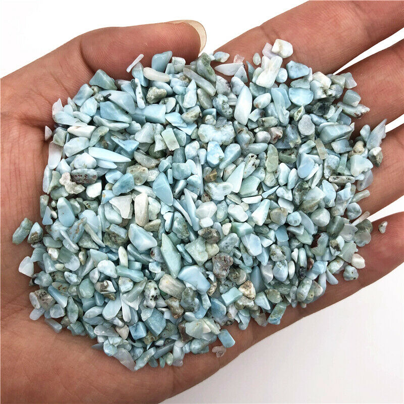 Оптовая продажа, 50 г, 3-5 мм, натуральный Ларимар, гравий, полированные камни, лечебные украшения, натуральные кварцевые кристаллы