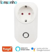 Lonsonho Tuya Smart Plug Wifi Smart Socket 16A 3520W Energy Saver EU AU UK Brasil Israel Chile Plug Compatible Alexa Google Home