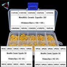 1500pcs 30Valuesx50 10pF~10uF (100~106) Multilayer/Monolithic Ceramic Capacitors Assorted kit with 3 storage box