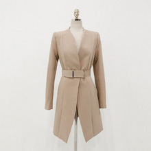 Spring Autumn Women Suit Belt Jacket White Collar Ol Professional Suit Female Solid Fashion Temperament Two-piece Suit Trousers
