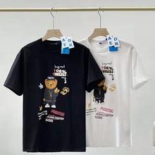 Ader Fehler T Shirt Umarmung mich! Digital Graffiti Bär Drucken T shirts 2021 Männer Frauen Glückliches Leben Beacuse Von Sie Brief Logo Tops T