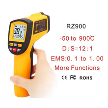 RZ900 IR Infrared Thermometer Thermal Imager Handheld Digital Electronic Outdoor Non Contact Laser Pyrometer Point Gun