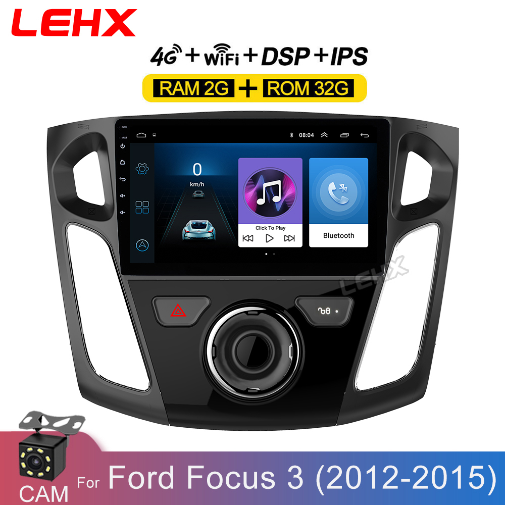 LEHX 9 Inch Car Android 8.1 GPS Navigation Plyaer for Ford Focus 3 Mk 3 2011 2012 2013-2015 Auto Multimedia Radio Video Player(China)