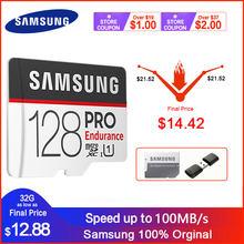 سامسونج مايكرو SD بطاقة الذاكرة برو التحمل 32 جيجابايت 64 جيجابايت 128 جيجابايت 100MBs الفئة 10 C10 UHS-I SDXC SDHC عبر فلاش