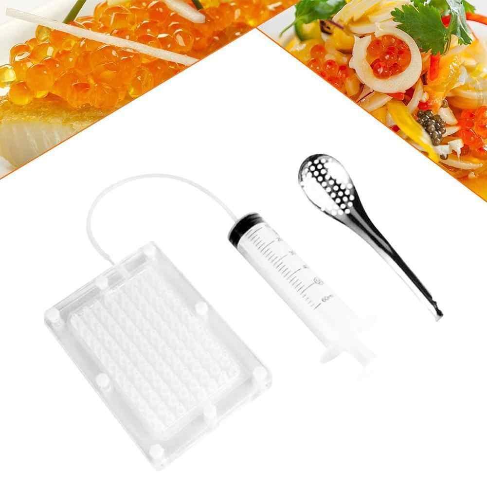 Caviar Maker Acr/ílico 96 agujeros Caviar Builder con tubo y cuchara para cocina molecular