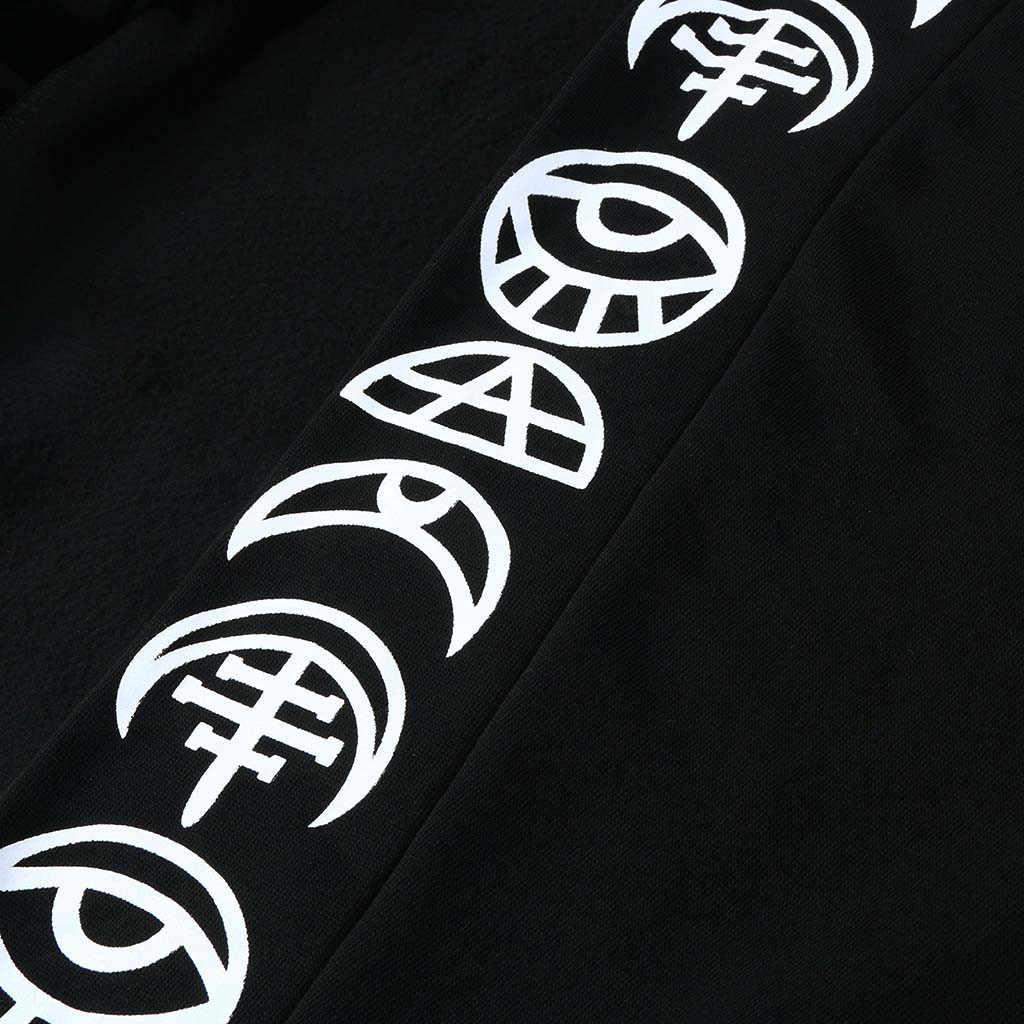 Готический длинный рукав с капюшоном Куртка Пальто 2019 Осень черный молния Женская Куртка бомбер женская ветровка черный casaco feminino