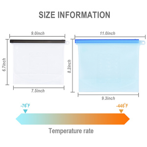 Image 5 - Reusable Silicone Bag Sealing Food Storage Saran Wrap ziplock Vacuum Covers Freezer Bags Kitchen Refrigerator Packing Organizer