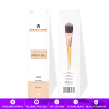 Y106 Duo-end Foundation and Contour Brush Bamboo Handle Rose Gold Classical Makeup Brush Multifunction Essential Travel Brushes