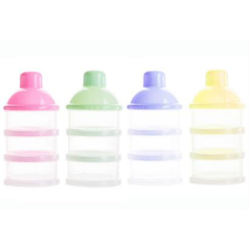 Three Layer Transparent Baby Milk Powder Box Milk Powder Lattice Removable Portable