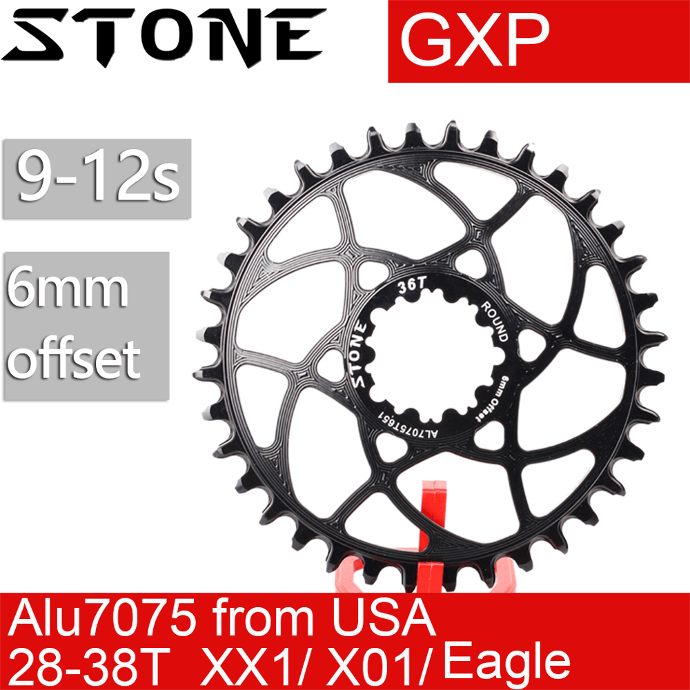 1x Aluminum Mountain Bike Chainring 32//34//36//38T For GXP GX EAGLE XX1 X9 XO X01