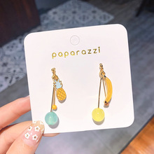 Korean Earrings Temperament Cute Girl Banana Pineapple Fruit Ear Clip