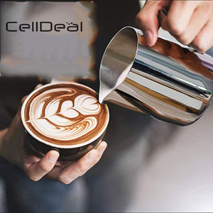 CellDeal Stainless Steel Frothing Pitcher Craft Espresso Coffee Barista Latte Cappuccino Milk Cream Cup Frothing Jug Pitcher