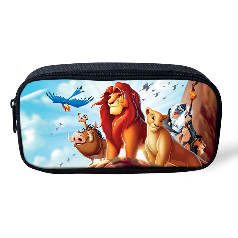 HaoYun Kids Pencil Case The Lion King Prints Pattern Students Stationery Box School Supplies Pen Bag Cartoon Design Beautician