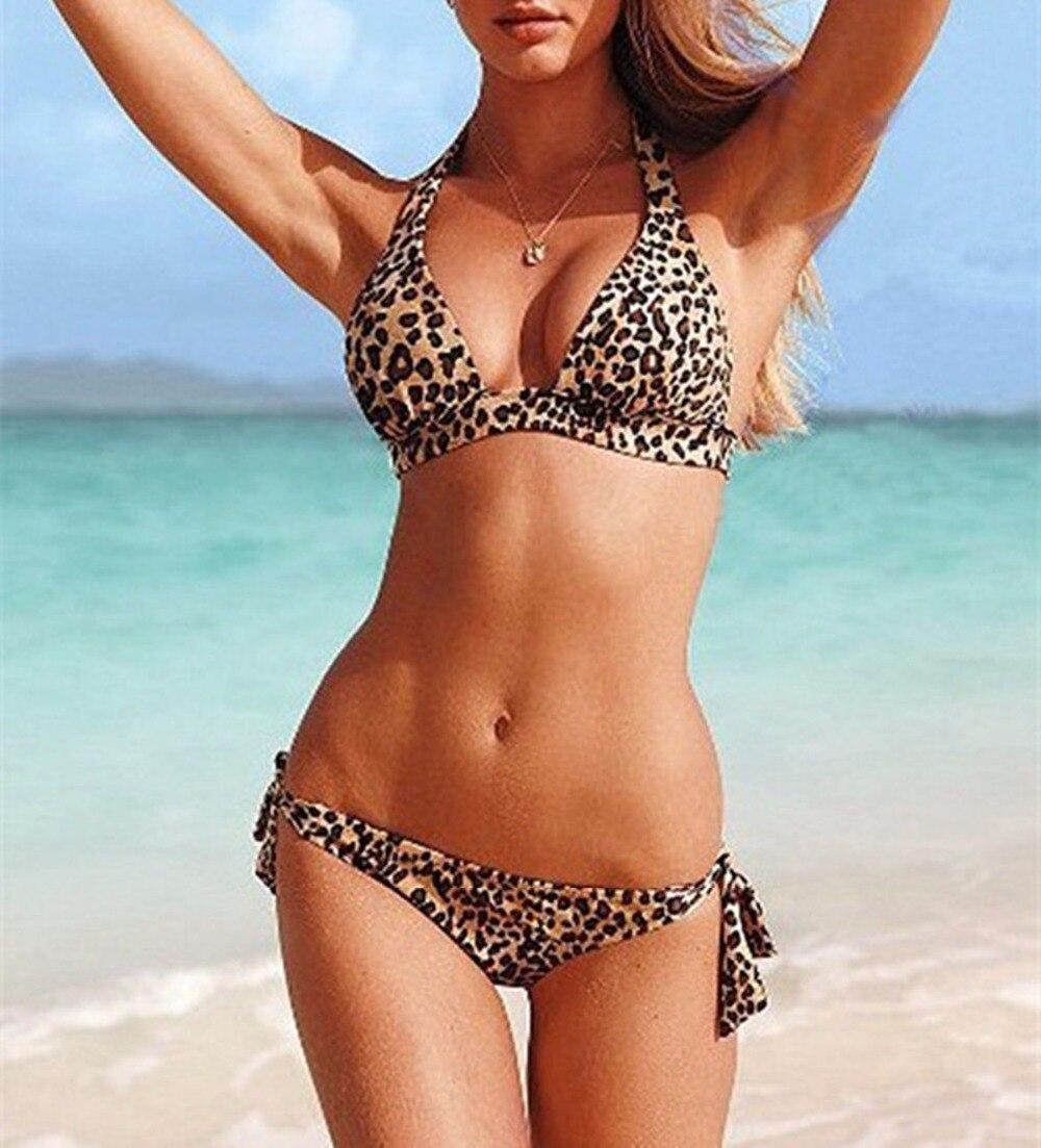 New Model Girls Sexy Swimwear Beach Fringe Split Women Bikini Leopard Print Lady Two Pieces Swimsuit Ladies Beach Wear Tankini