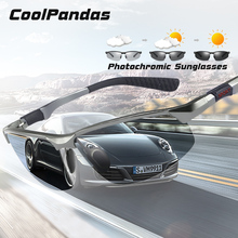 CoolPandas Brand Photochromic Sunglasses Men Polarized Chameleon Male Sport Sun Glasses Day Night Vision Driving zonnebril heren