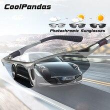 CoolPandas lunettes de soleil pour hommes, verres photochromiques polarisés, de Sport pour hommes, Vision diurne et nocturne, de conduite