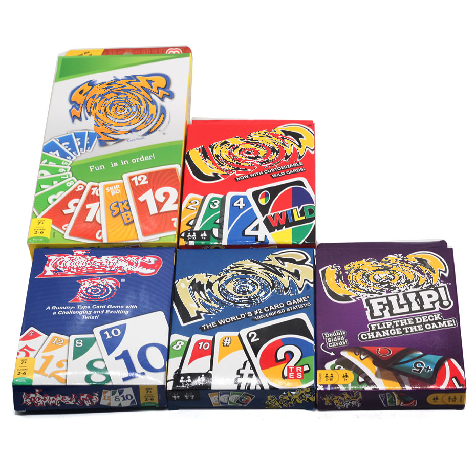 Topsale Mattel Games UNO Classic Puzzle Games 108 Cards Family Funny Entertainment Board Game Fun Poker Playing Cards Gift Box
