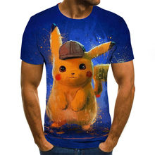 2021 new explosions summer cartoon characters comfortable fashion men's T-shirt leisure sports round neck short sleeve T-shirt