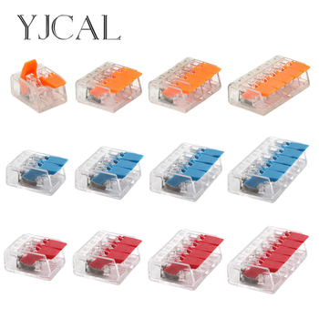 25/50/100PCS YJCAL Mini Electrical Wiring Connectors Cage Spring Universal Fast Terminal Household Push-in Block