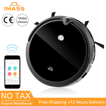 IMASS A3S Robot Vacuum Cleaner Powerful Suction For Camera Navigation Various Cleaning Mode With APP Control Auto Charge Mopping imass a3 intelligent cleaning robot sweeper robotic multifunction automatic vacuum cleaner with mopping cloth clean tool