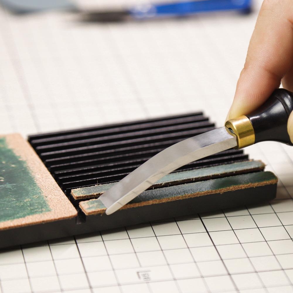 WUTA Multifunctional Leather Edge Beveler Sharpener Sharpening Strop Tool Polish Grind Knife Wide Shovel Cutting Edge Skiving-2